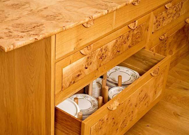 Fearn Burr Oak Dining Furniture | English Burr Oak And Oak Dining Table |  Sculptured Oak Dining Chairs With Burr Oak Detail | English Burr Oak  Sideboard